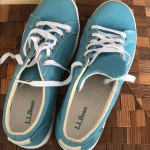 LL Bean teal blue sneakers new without box sz 6